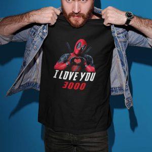 Deadpool Love You 3000 T-Shirt Black A