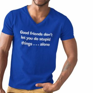 Good Friends Stupid Things T-Shirt Blue