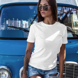 women custom tshirt white