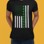 t shirt mockup of a cropped face man with hands in his back 289544